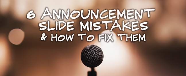 Announcement Mistakes